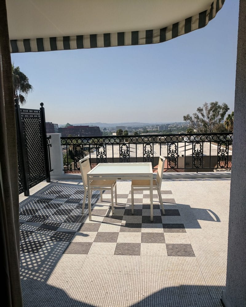 London Hotel West Hollywood King Suite Balcony