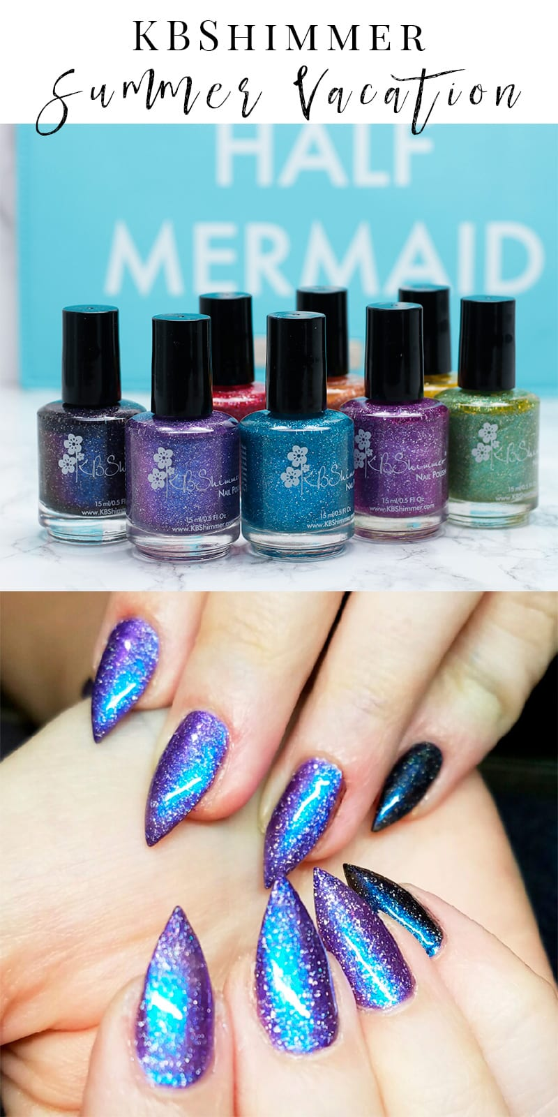KBShimmer Summer Vacation Nail Polishes Review and Swatches - Fall in love with unique, handmade indie nail polish.