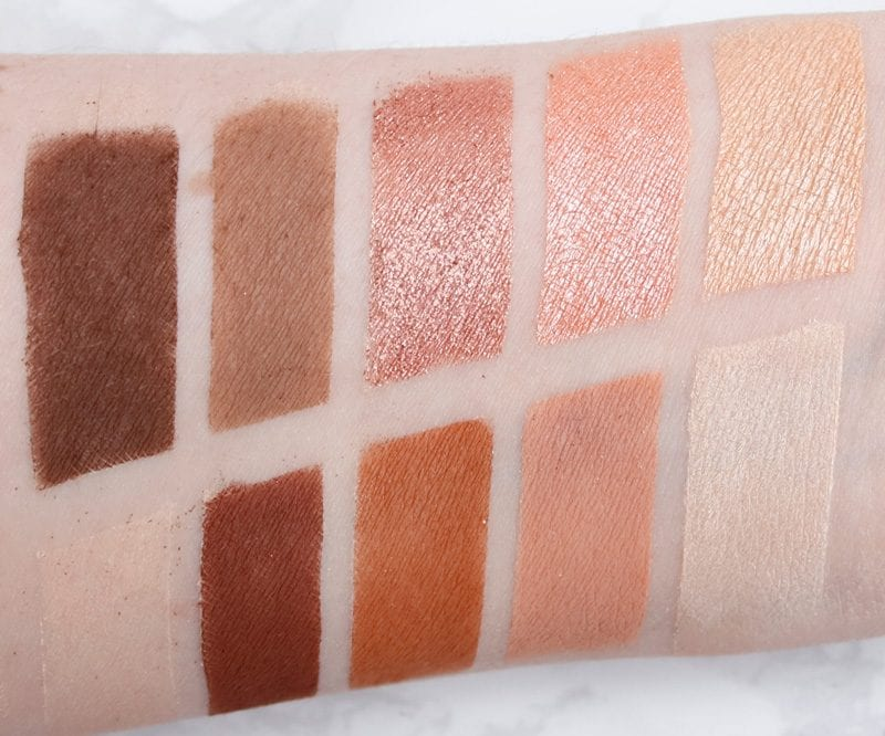 Makeup Geek In the Nude Palette Swatches