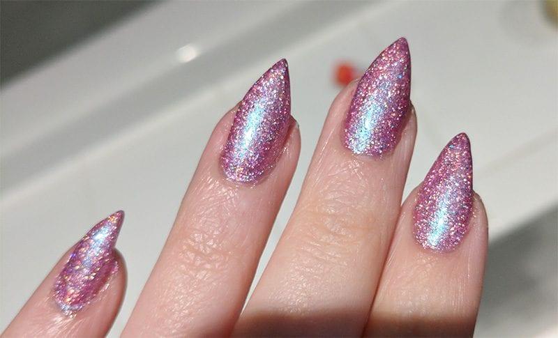 KBShimmer Pinking of Paradise nail polish swatch