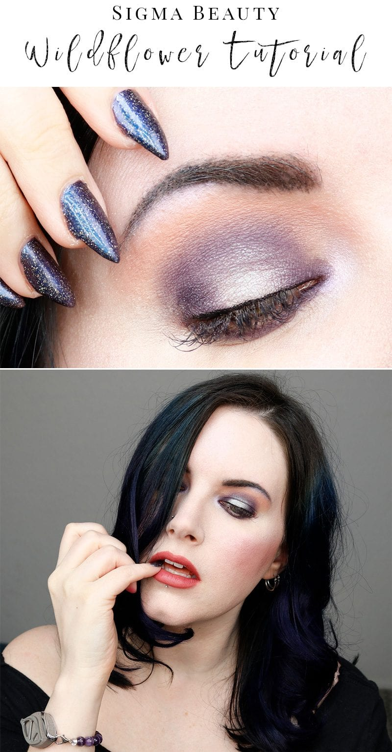 Sigma Wildflower Palette Tutorial - If you love purple, you need to pick up this palette! It's amazing!
