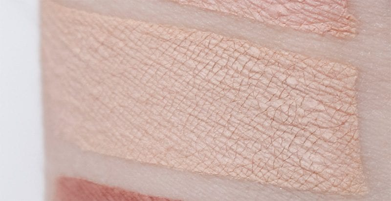 Stila Feathered swatch on pale skin
