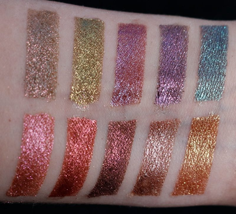 Aromaleigh Fatalis 2 Swatches under indirect dayight by a window indoors