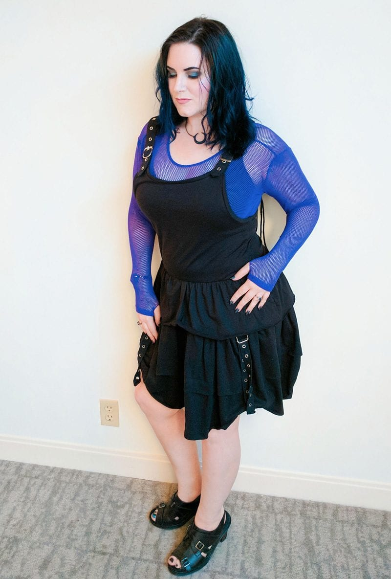 8-Bit Bash Black & Purple Goth Outfit
