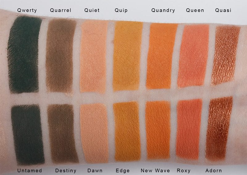 Silk Naturals Avant-Garde Palette dupes for Anastasia Beverly Hills Subculture Palette swatches