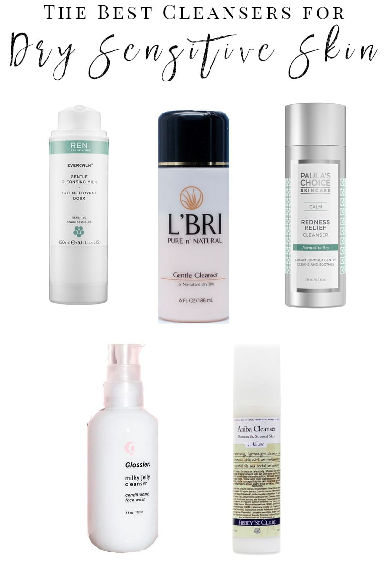 Best Facial Cleansers for Sensitive Dry Skin