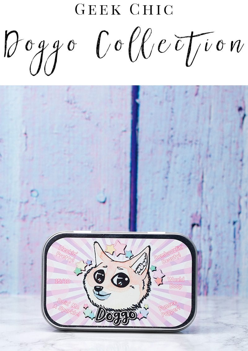 Geek Chic Doggo Collection - the dog meme inspired eyeshadow collection is super cute! #crueltyfree #glutenfree #vegan