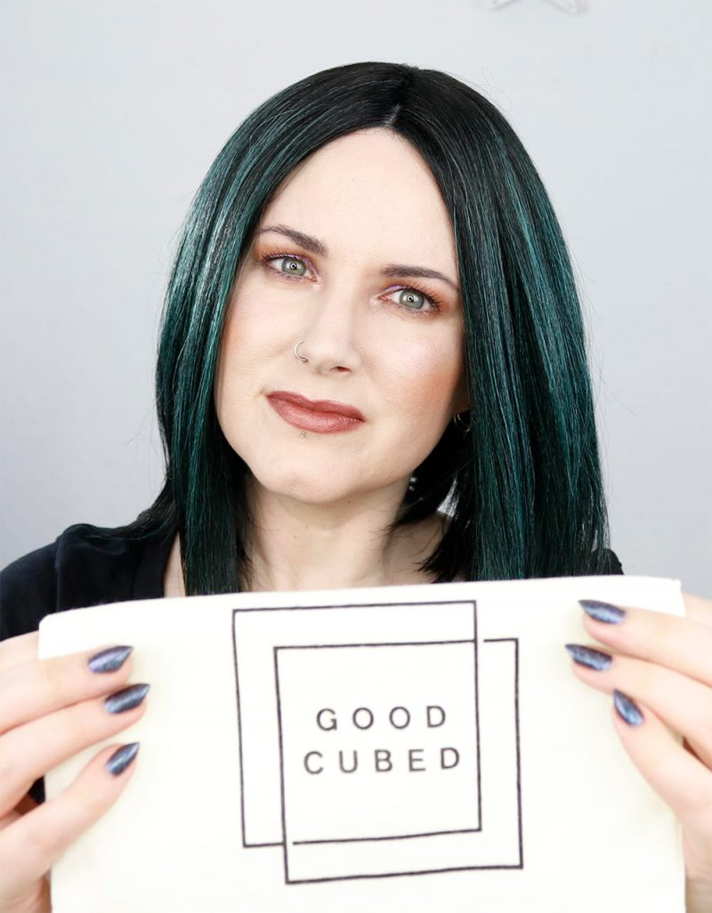 Wearing Cruelty Free Clean Beauty from Good Cubed