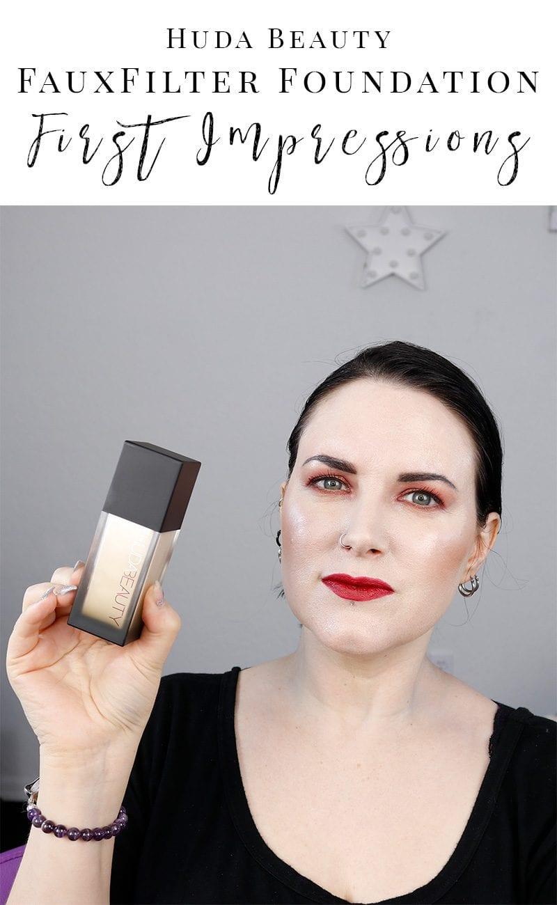 Huda Beauty FauxFilter Foundation - First Impressions of Milkshake, as well as a comparison to NARS Siberia, Kat Von D L41 & Idun Minerals Jorunn. #hudabeauty #paleskin #foundation #fauxfilter