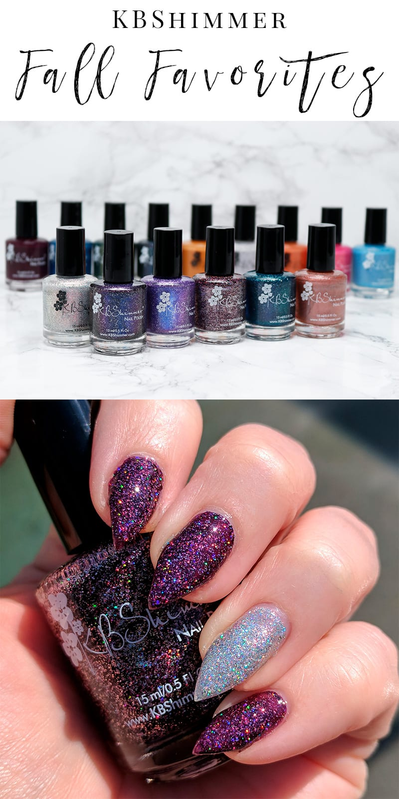 KBShimmer Fall 2017 Collection - I'm bringing you the new KBShimmer Fall 2017 Collection, plus some of my all-time favorite KBShimmer nail polishes. KBShimmer is my favorite nail polish maker. #kbshimmer #fall #nailpolish