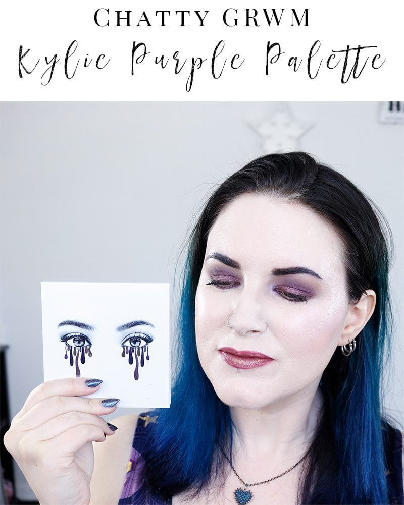 GRWM Kylie Purple Palette Tutorial - I share a makeup tutorial with the Kylie Cosmetics Purple Palette, Milk Makeup and more!