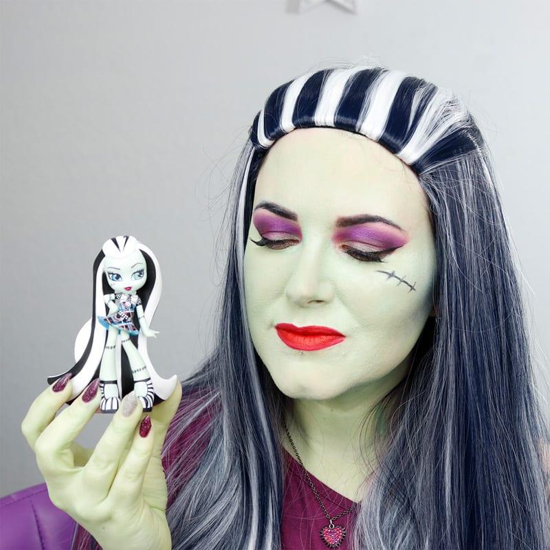 monster high frankie stein makeup tutorial fun duochrome