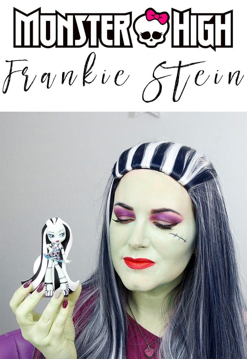 Monster High Frankie Stein Makeup Tutorial - Fun Duochrome Frankie Stein makeup tutorial! #monsterhigh #halloween #frankiestein #frankenstein #brideoffrankenstein #makeuptutorial