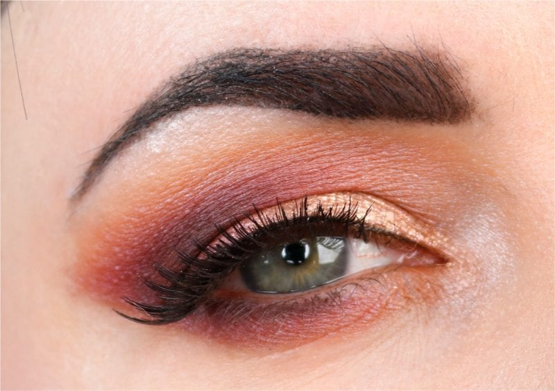 Wearing Urban Decay Angel Fire, Too Faced Just Peachy Mattes and Aromaleigh Kupala