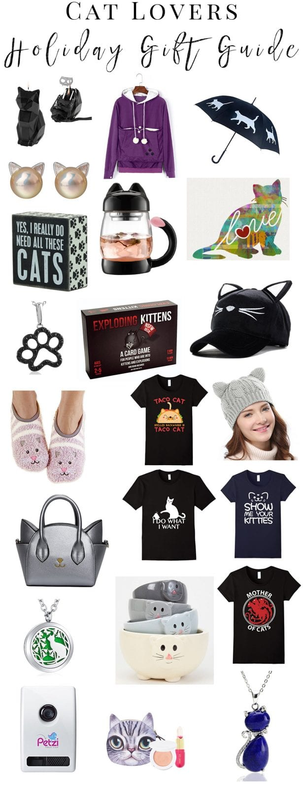 Cat Lovers Holiday Gift Guide - The best cat lover gifts to buy on Amazon.