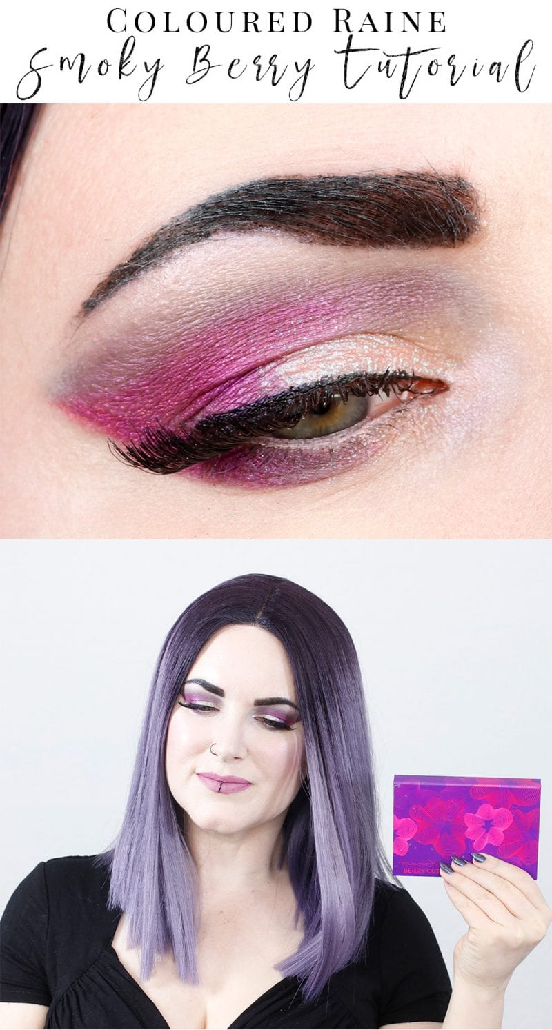 Coloured Raine Berry Cute Tutorial - This is a fun smokey look for hooded eyes featuring cruelty free indie brands Coloured Raine, Aromaleigh and Makeup Geek. I love this smoky berry tutorial!
