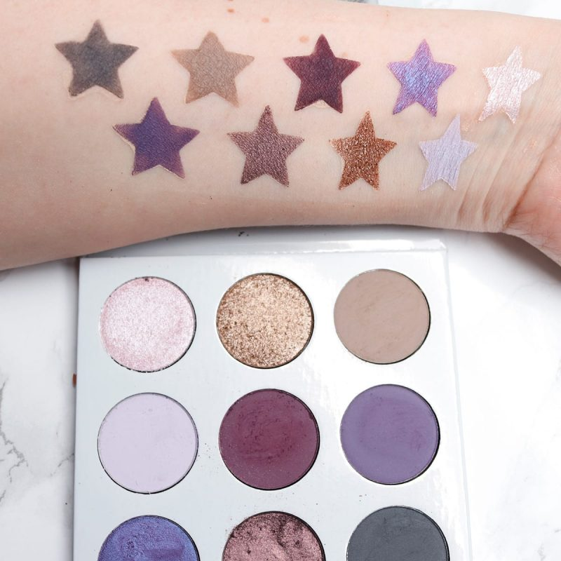 Kylie Purple Palette swatches and review