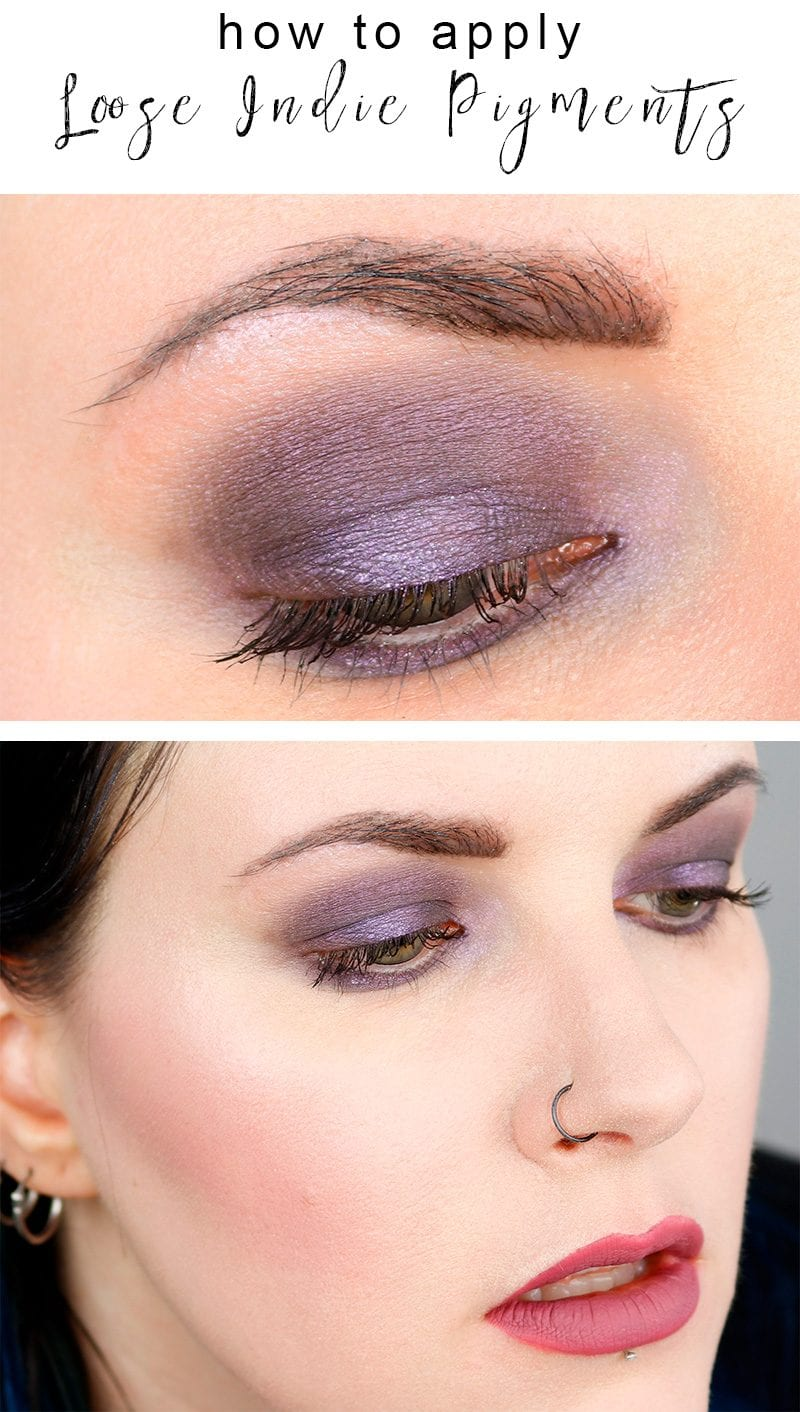 How to Apply Loose Eyeshadow Tutorial - I show you how to apply loose pigments on the eyes, as well as to apply highlight, contour and blush!