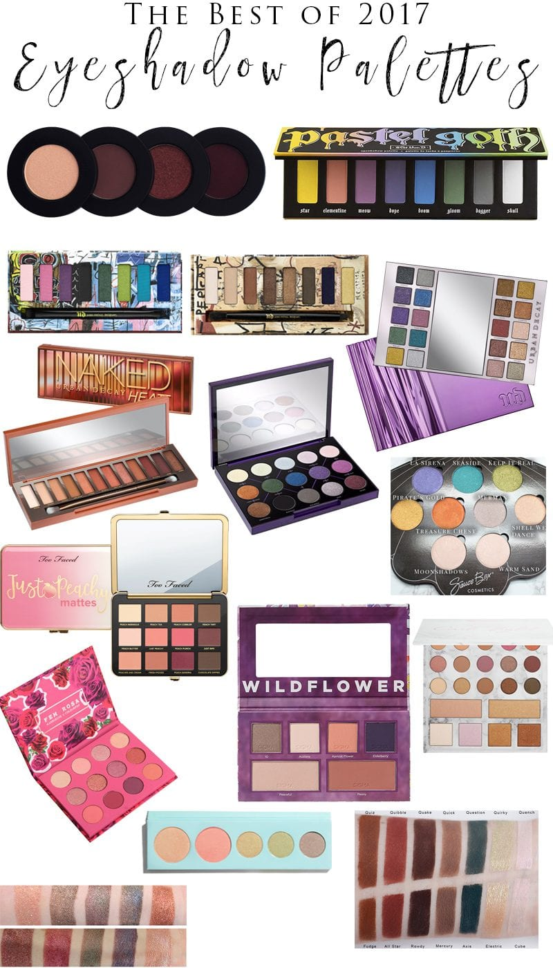 Best Eyeshadow Palettes of 2017 - My picks for the best palettes of the year. So many palettes came out this year but these are the best! All are cruelty free and many are vegan.