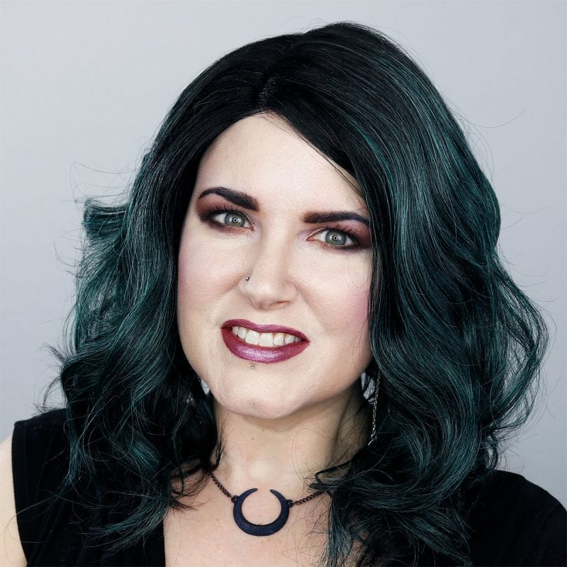 Wearing It's a Wig Trudy Dark Green