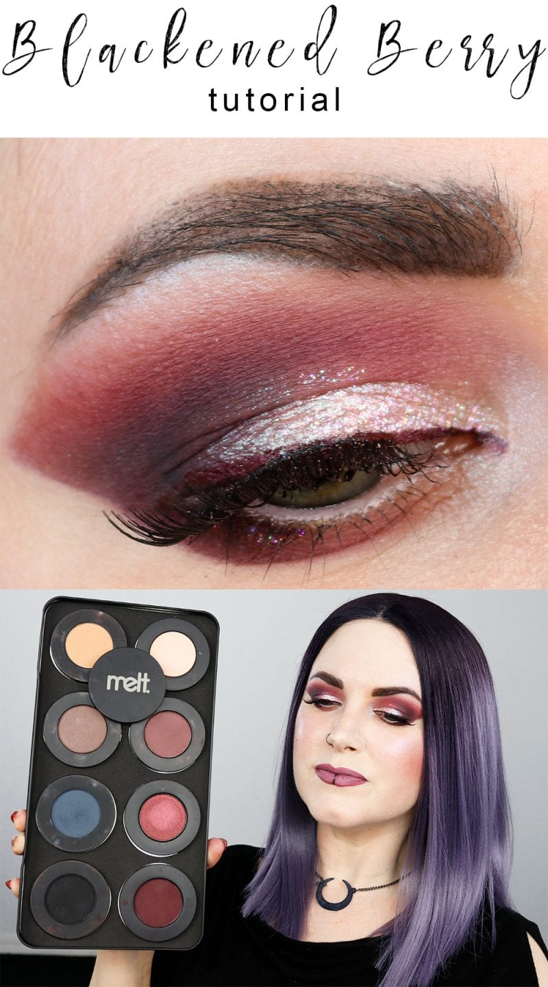 Glittery Blackened Berry Tutorial - My New Year's Eve look is perfect for any time you want a little extra glitter!