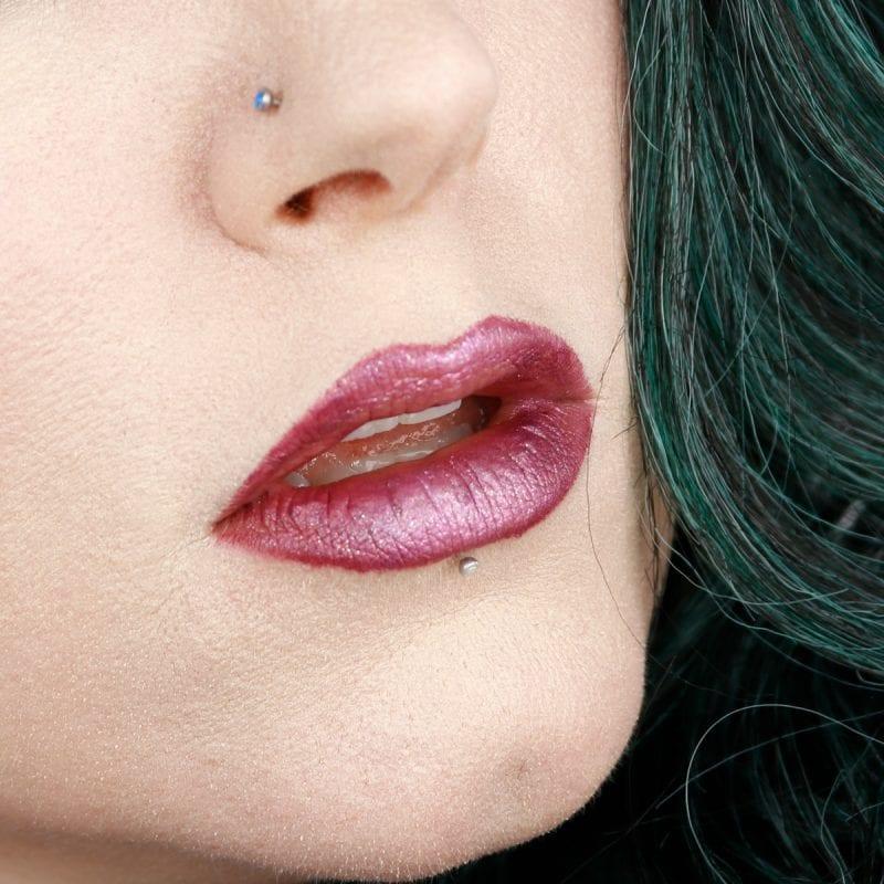 Wearing Urban Decay Mirana lipstick