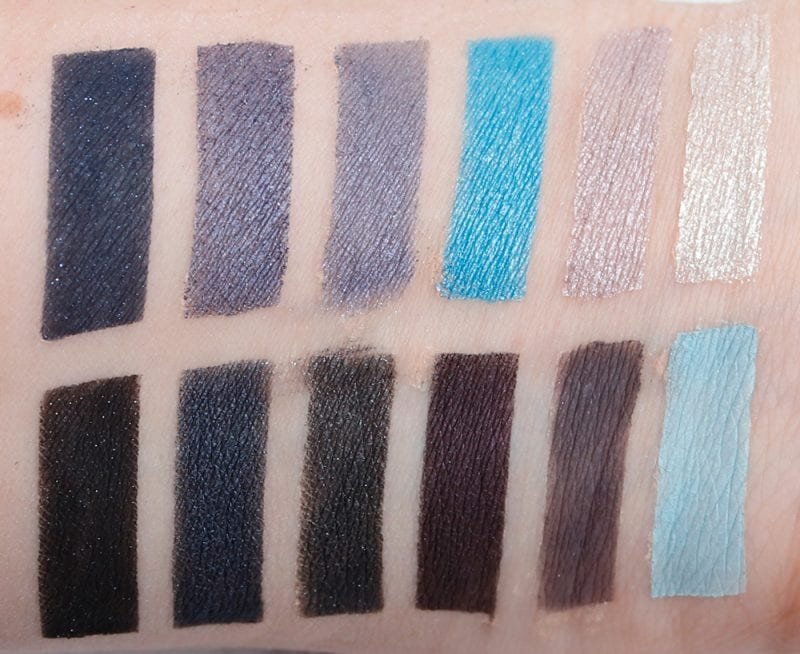 Nyx In Your Element Wind Palette swatches