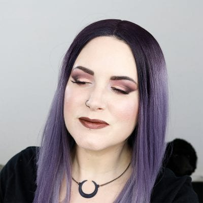 Melt She's in Parties Stack Tutorial - A beautiful mauve purple duochrome tutorial for hooded or downturned eyes