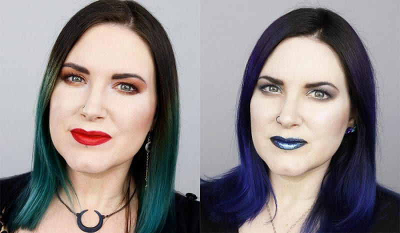 Before and After with Galaxy Hair