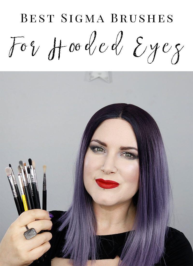 Best Eyeshadow Brushes for Hooded Eyes - I share my favorite Sigma eye brushes for hooded eyes and how I use them