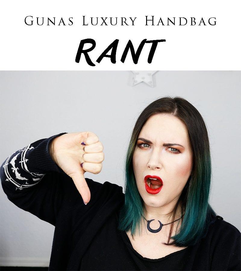 Gunas Luxury Handbag Rant! How long should a luxury handbag last without tearing? I had my Gunas Naomi luxury vegan handbag for 15 months before it ripped at the clasp.