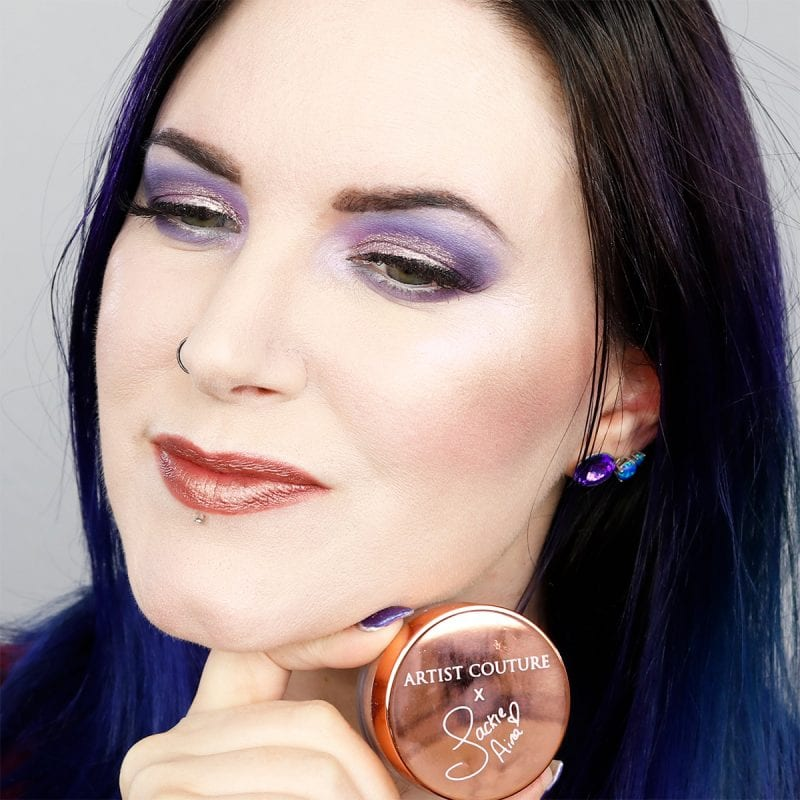Wearing Artist Couture Jackie Aina La Peach Highlighter with Physicians Formula Iridescent Highlighter