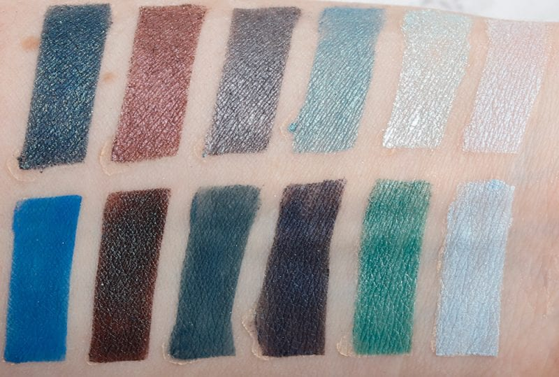 Nyx In Your Element Water Palette Swatches on Pale Skin and Review