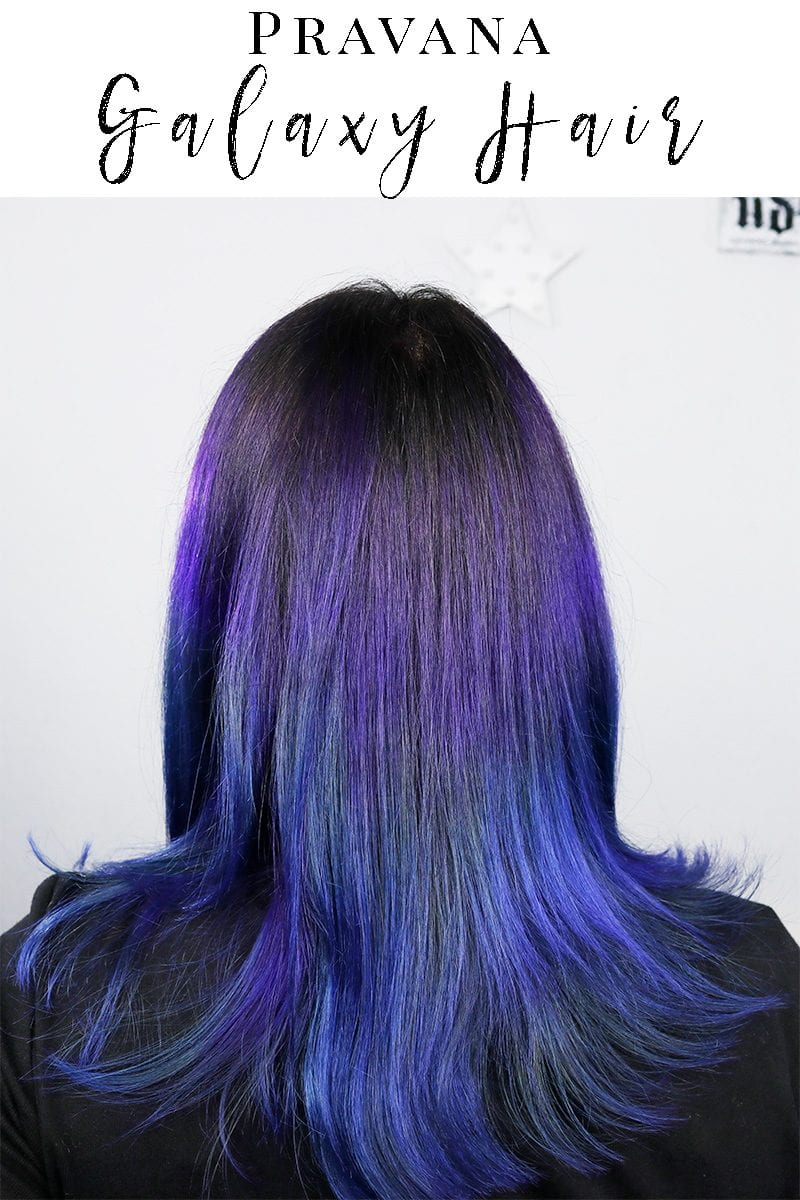 Pravana Galaxy Hair - purple and blue hair