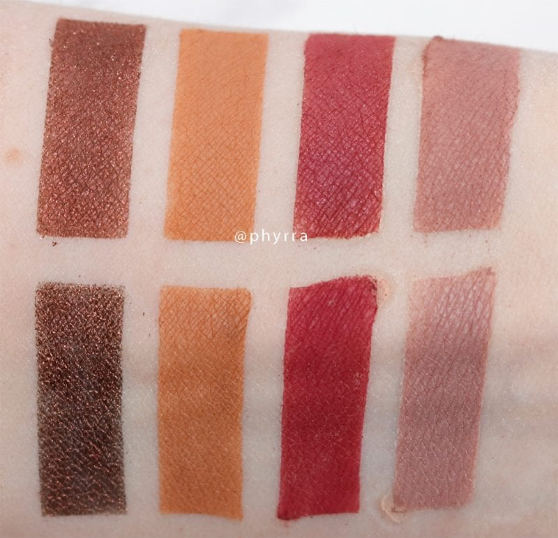 Silk Naturals Dupes for Urban Decay and Anastasia Beverly Hills Eyeshadows Swatches