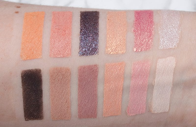 Too Faced White Peach Palette Swatches