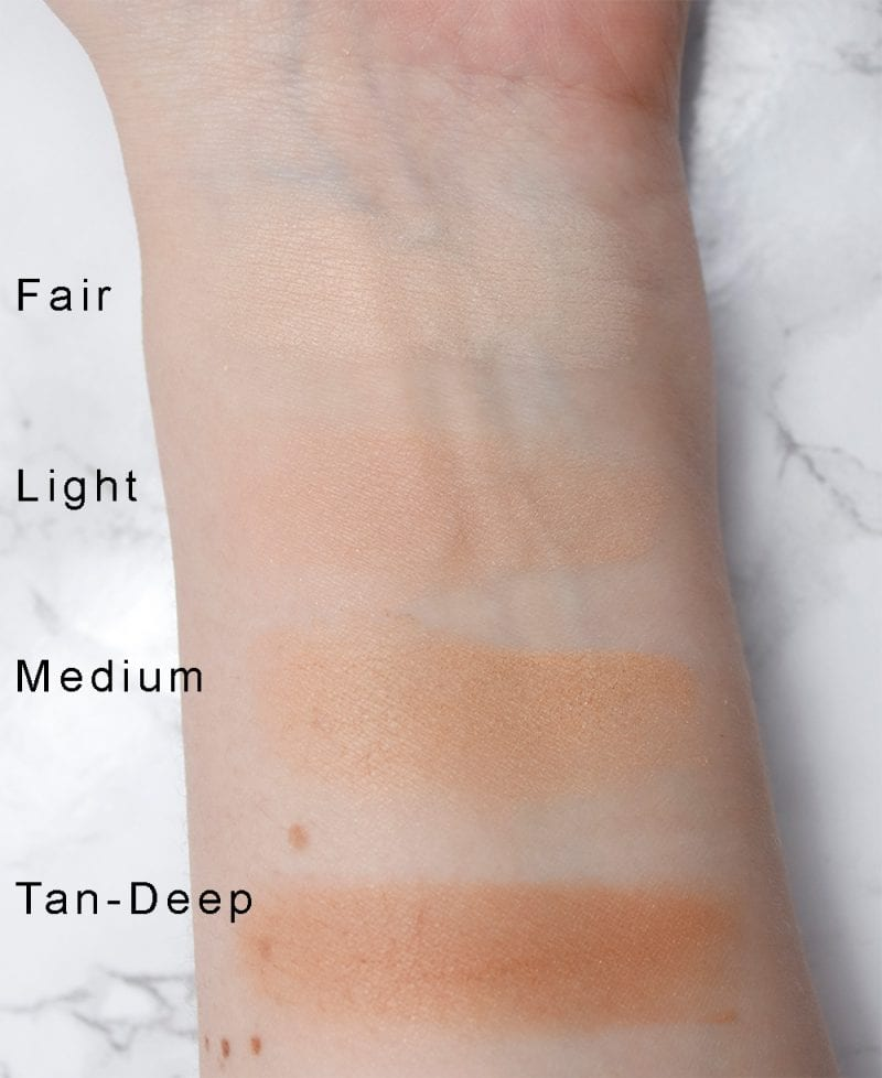 Azelique Pressed Powder Satin Foundations Swatches