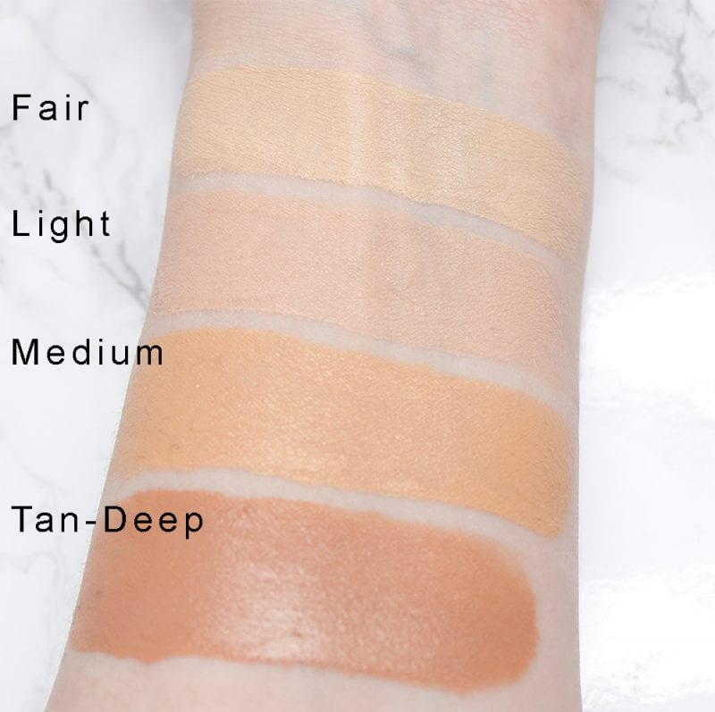 Azelique Illuminating Tinted Moisturizers Broad Spectrum SPF 20 Swatches