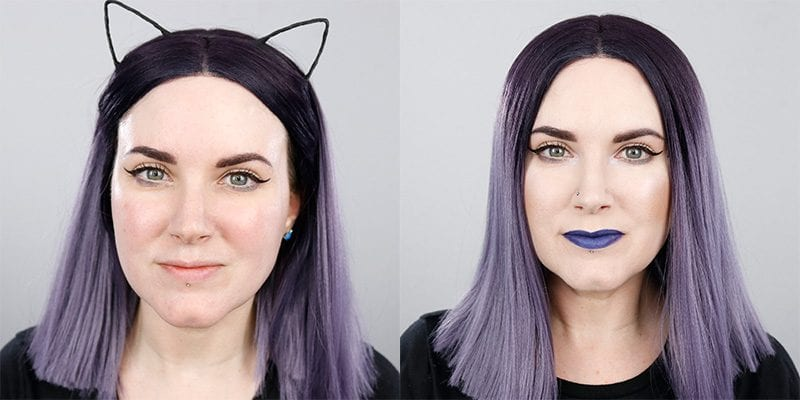 Cruelty-free Makeup Before & After