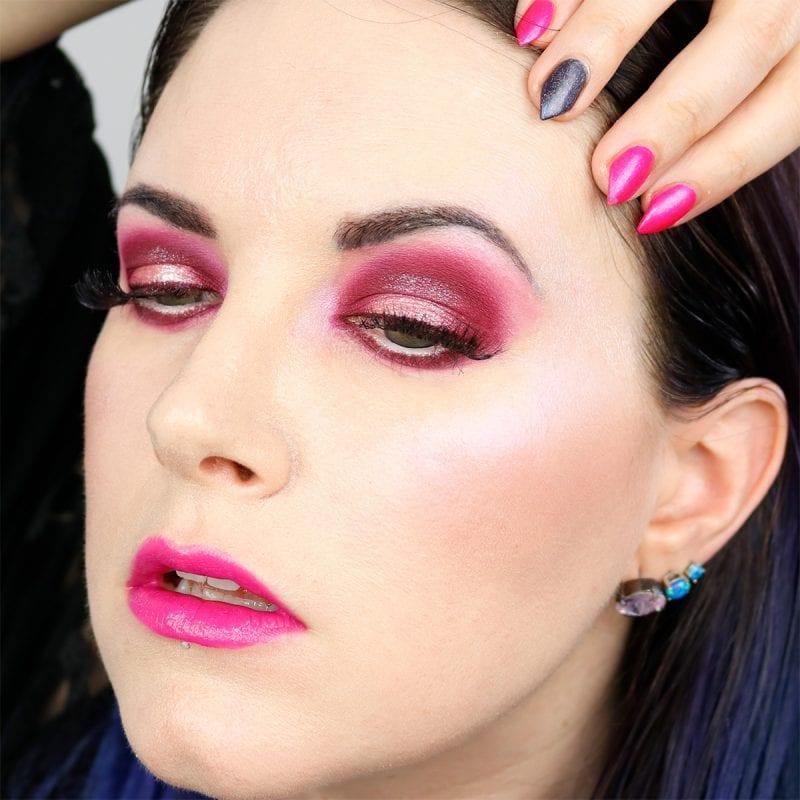Burgundy Pink Makeup Look