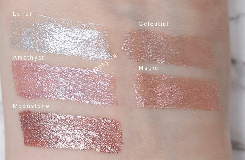 Cover FX Glitter Drops & Shimmer Veils Swatches