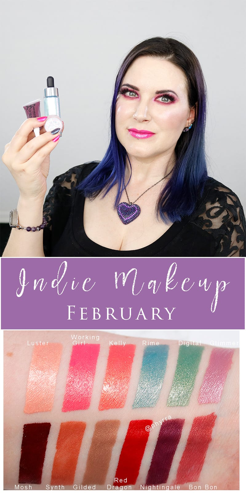 Cruelty-free Indie Makeup for February - Cover FX, OCC Makeup, Silk Naturals, Aromaleigh, My Pretty Zombie, and Clean Slate Cosmetics all make gorgeous vegan indie makeup.