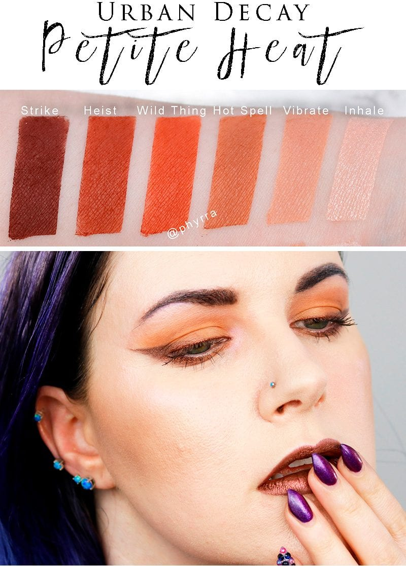 Urban Decay Petite Heat Review Swatches Comparison