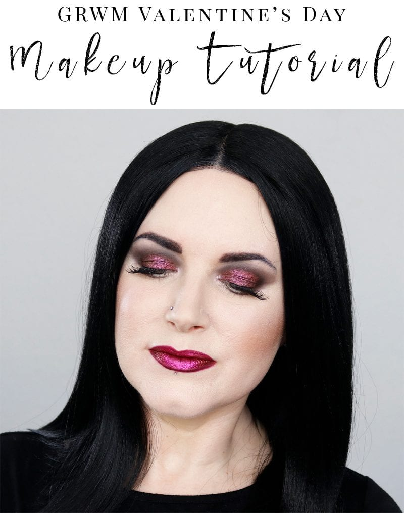 GRWM Valentine's Day cruelty-free makeup tutorial. It's a smoky red look with a gothic feel.