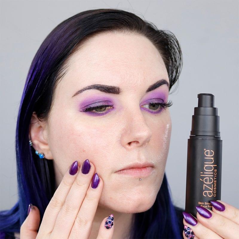Azelique, Skin Smoothing Face Primer on pale skin
