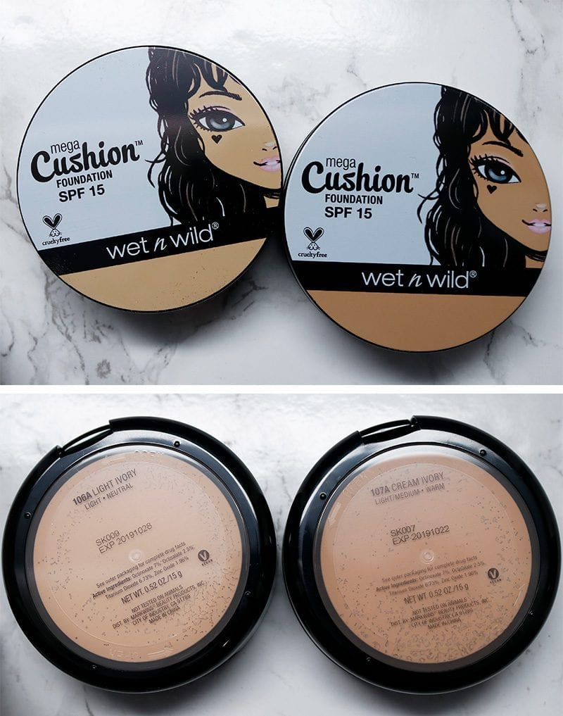 Wet n' Wild MegaCushion Foundation SPF 15 in Light Ivory and Cream Ivory
