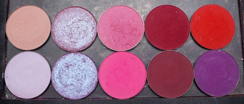 DIY Cool Berries Eyeshadow Palette