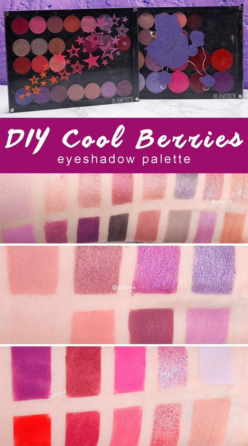 DIY Cool Berries Eyeshadow Palette - Tired of all the warm eyeshadow palettes out there? Make your own cool berries palette with my suggestions!