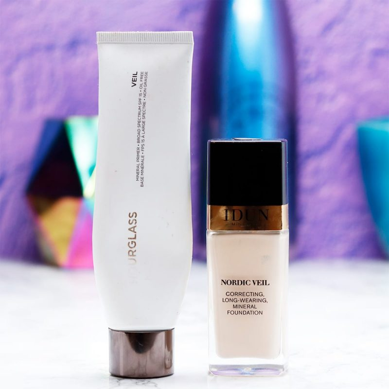 Favorite Primer and Foundation Combo for Sensitive Skin - Hourglass Veil Mineral Primer and Idun Minerals Nordic Veil Foundation in Jorunn