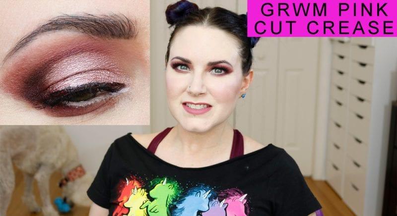 GRWM Hair & Makeup Pink Cut Crease Tutorial